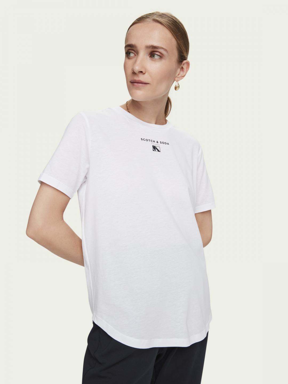 Levně Scotch & Soda Scotch & Soda dámské bílé tričko