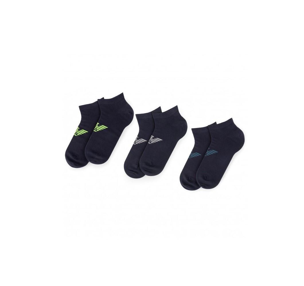 Armani Emporio Armani pánské černé ponožky - 3ks
