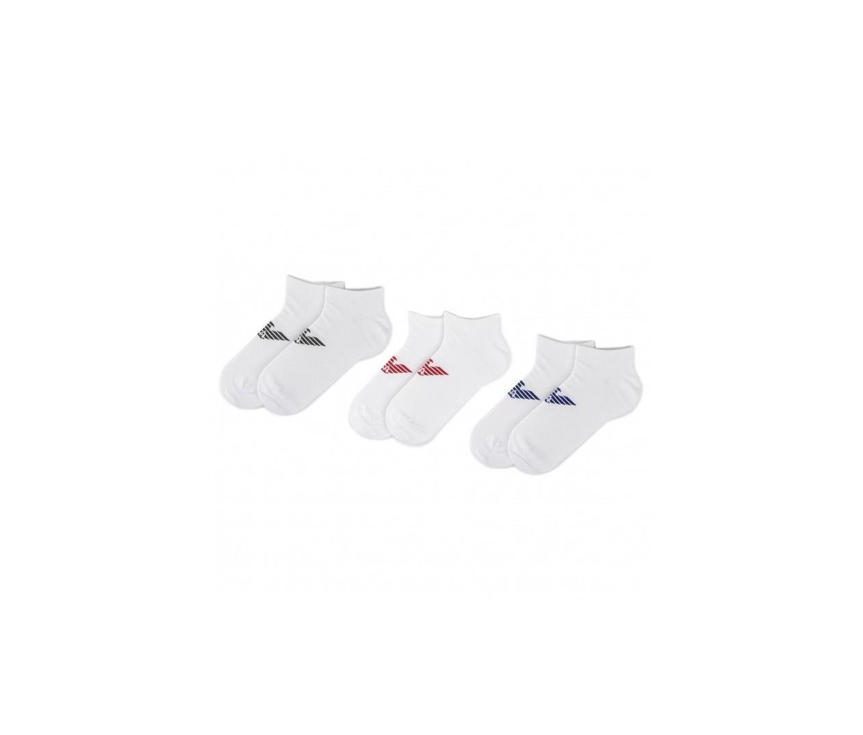 Armani Emporio Armani pánské bílé ponožky - 3ks
