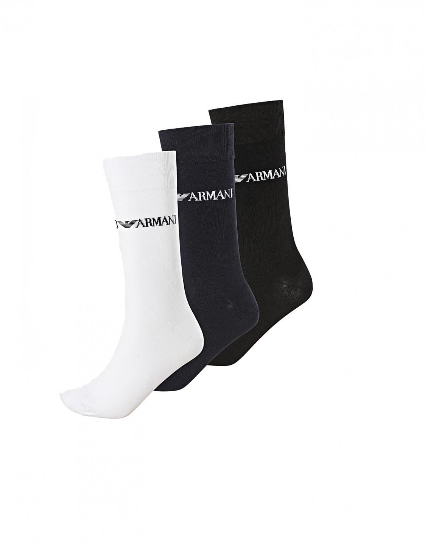 Armani Emporio Armani pánské vícebarevné vyšší ponožky - 3ks