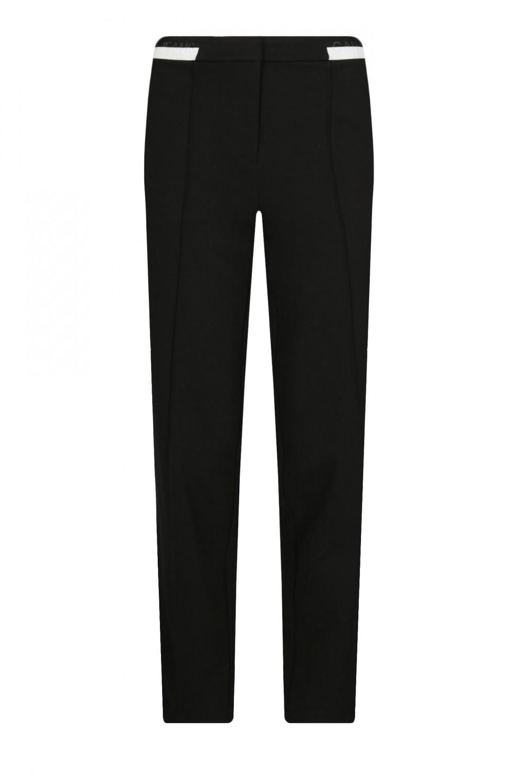 Levně Calvin Klein Calvin Klein dámské černé kalhoty TAPERED MILANO PANT