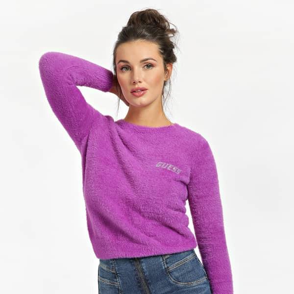 Guess GUESS dámský fialový svetr ROSMARY