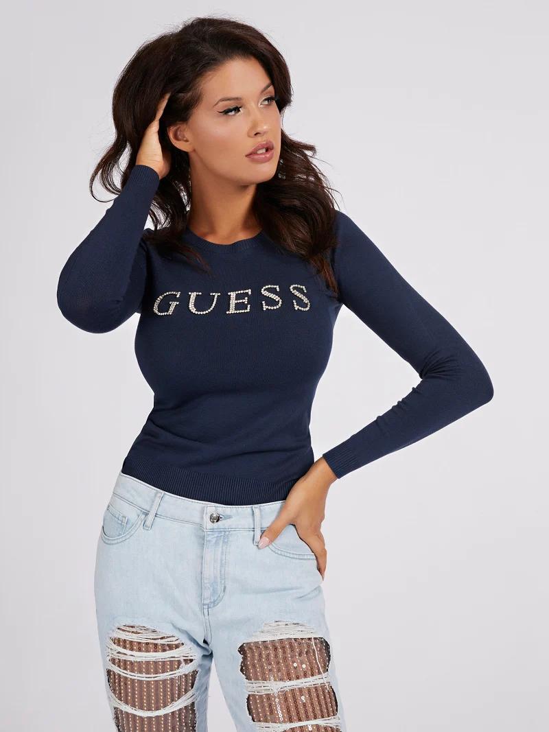 Guess GUESS dámský tmavě modrý svetr