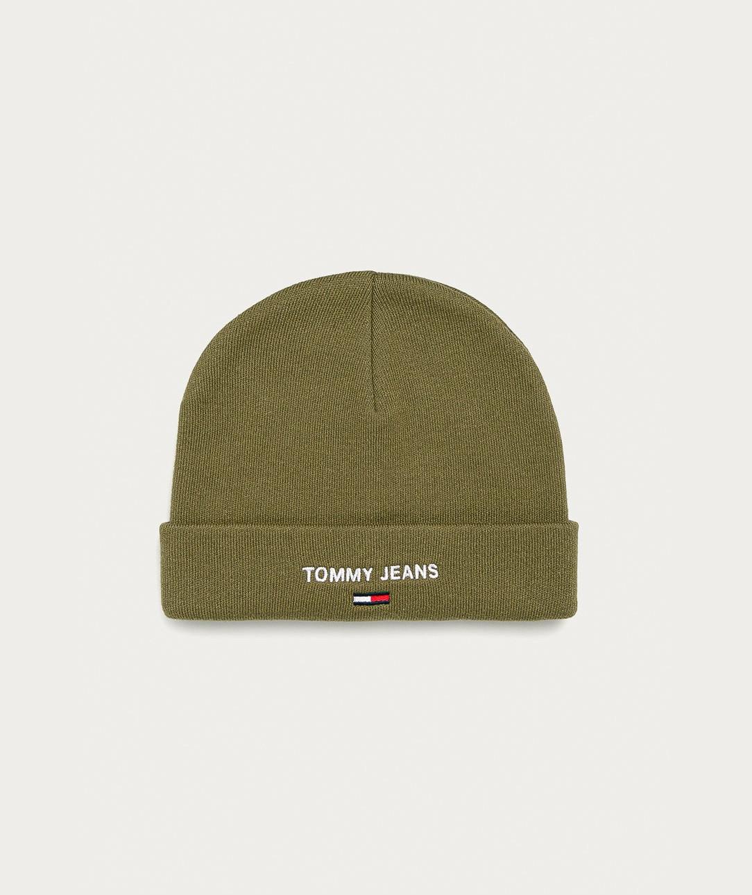 Tommy Hilfiger Tommy Jeans pánská olivová čepice SPORT BEANIE