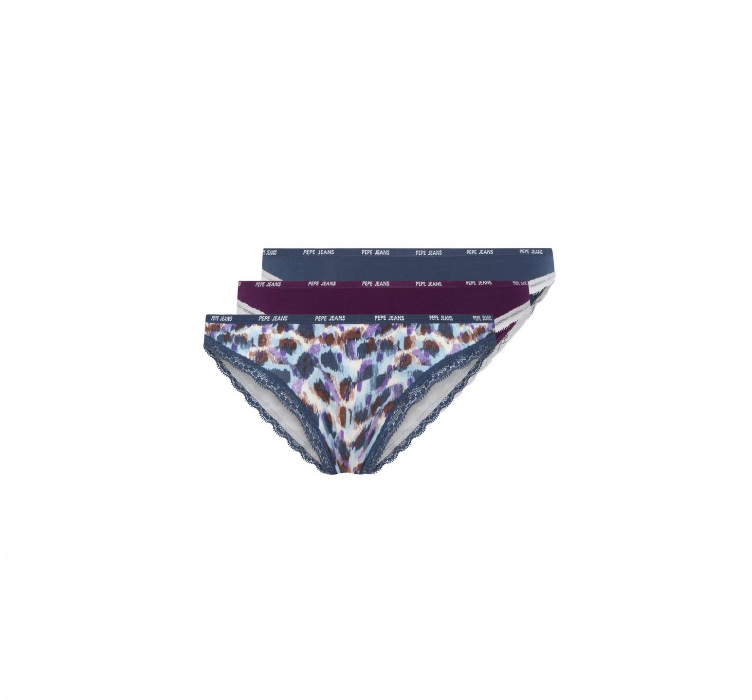 Pepe Jeans Pepe Jeans dámské vícebarevné kalhotky Madella | 3 kusy