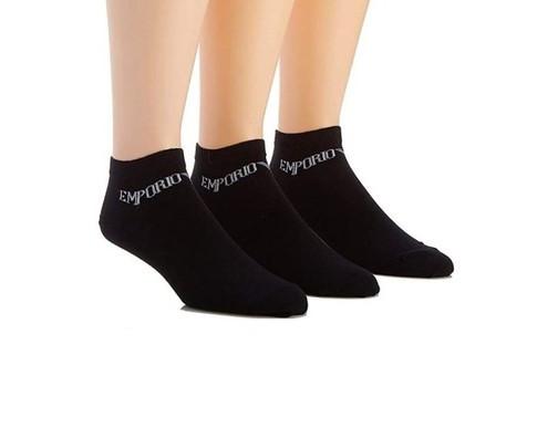 Armani Emporio Armani pánské tmavě modré ponožky- 3ks
