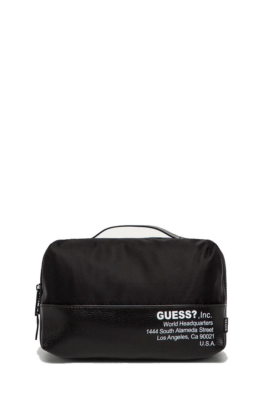 Guess GUESS pánská černá kosmetická taška