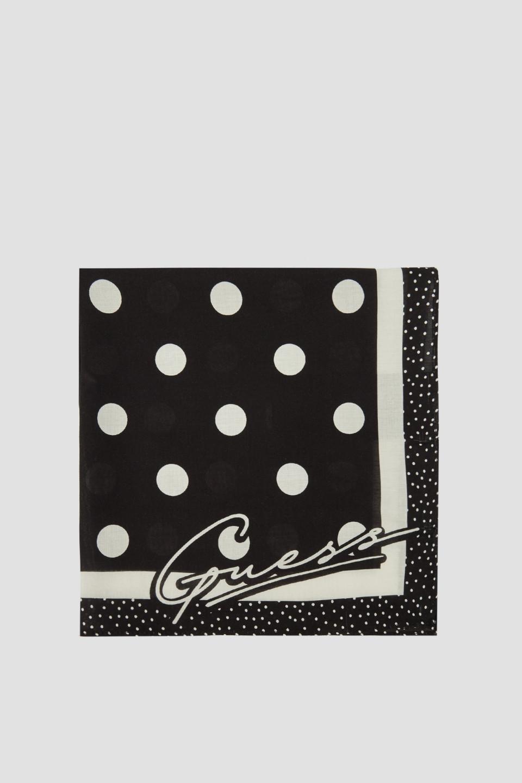 Guess GUESS dámský malý černo-bílý puntíkatý šátek