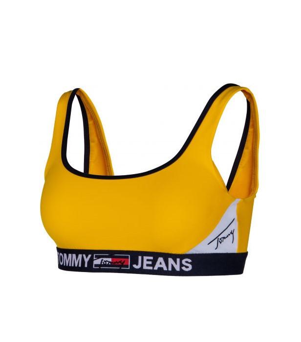 Levně Tommy Hilfiger Tommy Jeans dámská žlutá horní část bikin BRALETTE