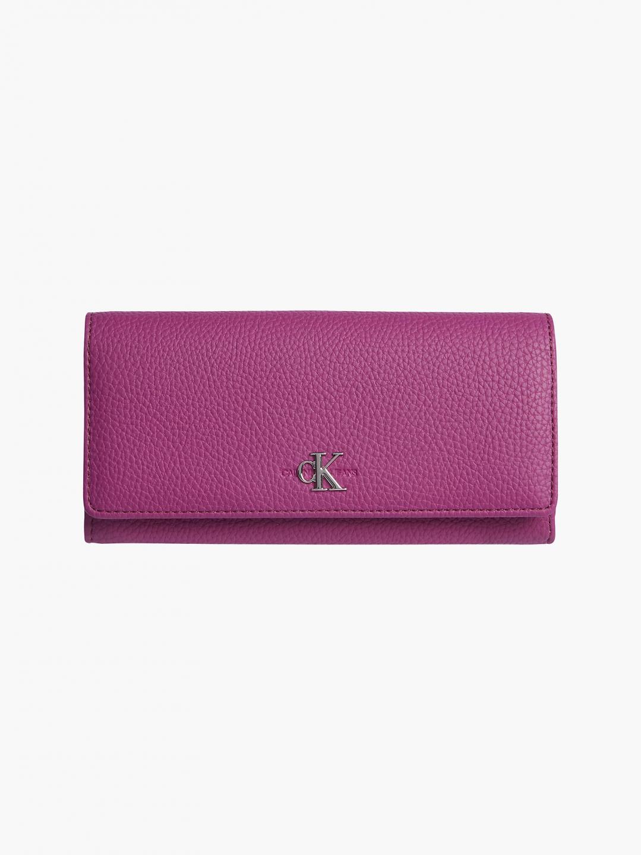 Calvin Klein Calvin Klein Jeans dámská fialová peněženka s klopou LONGFOLD