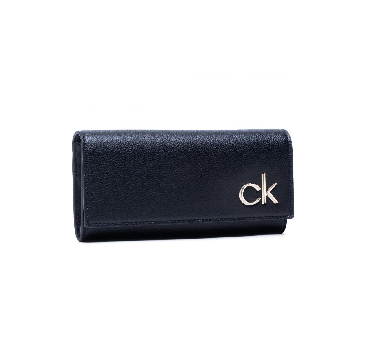 Calvin Klein Calvin Klein dámská černá peněženka s klopou TRIFOLD LG