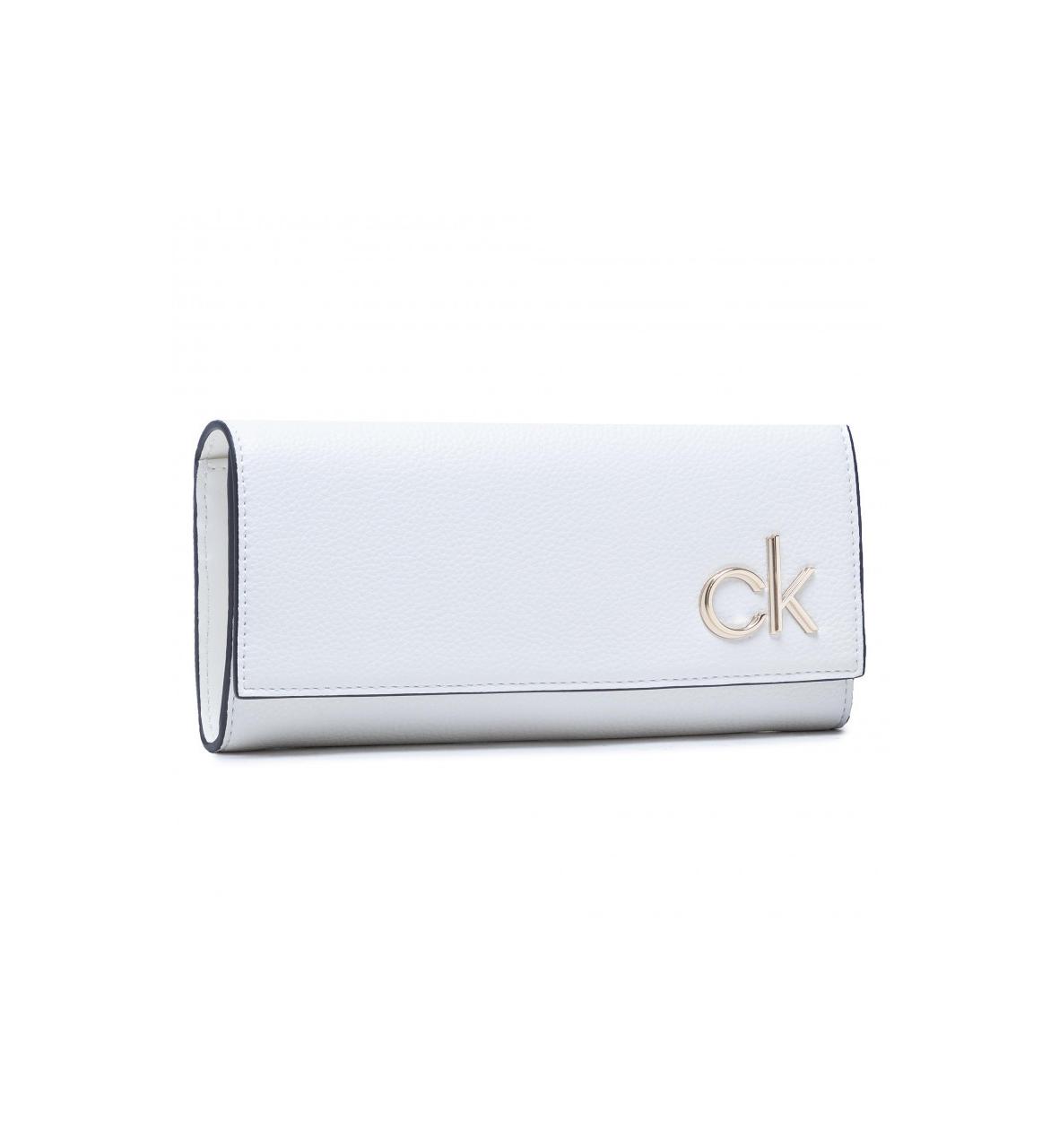 Calvin Klein Calvin Klein dámská bílá peněženka s klopou TRIFOLD LG