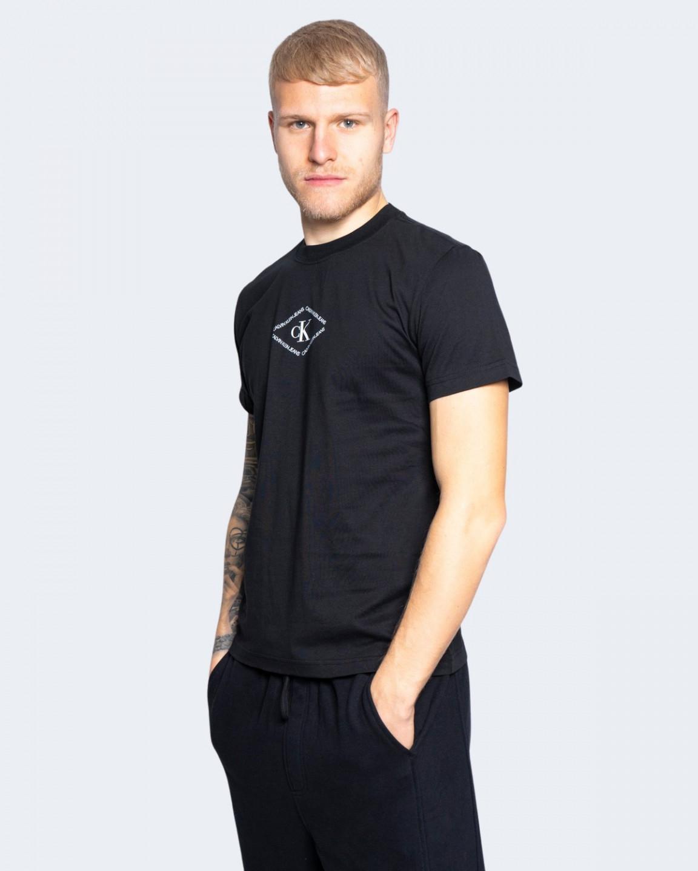 Levně Calvin Klein Calvin Klein Jeans pánské černé tričko CK MONOTRIANGLE TEE