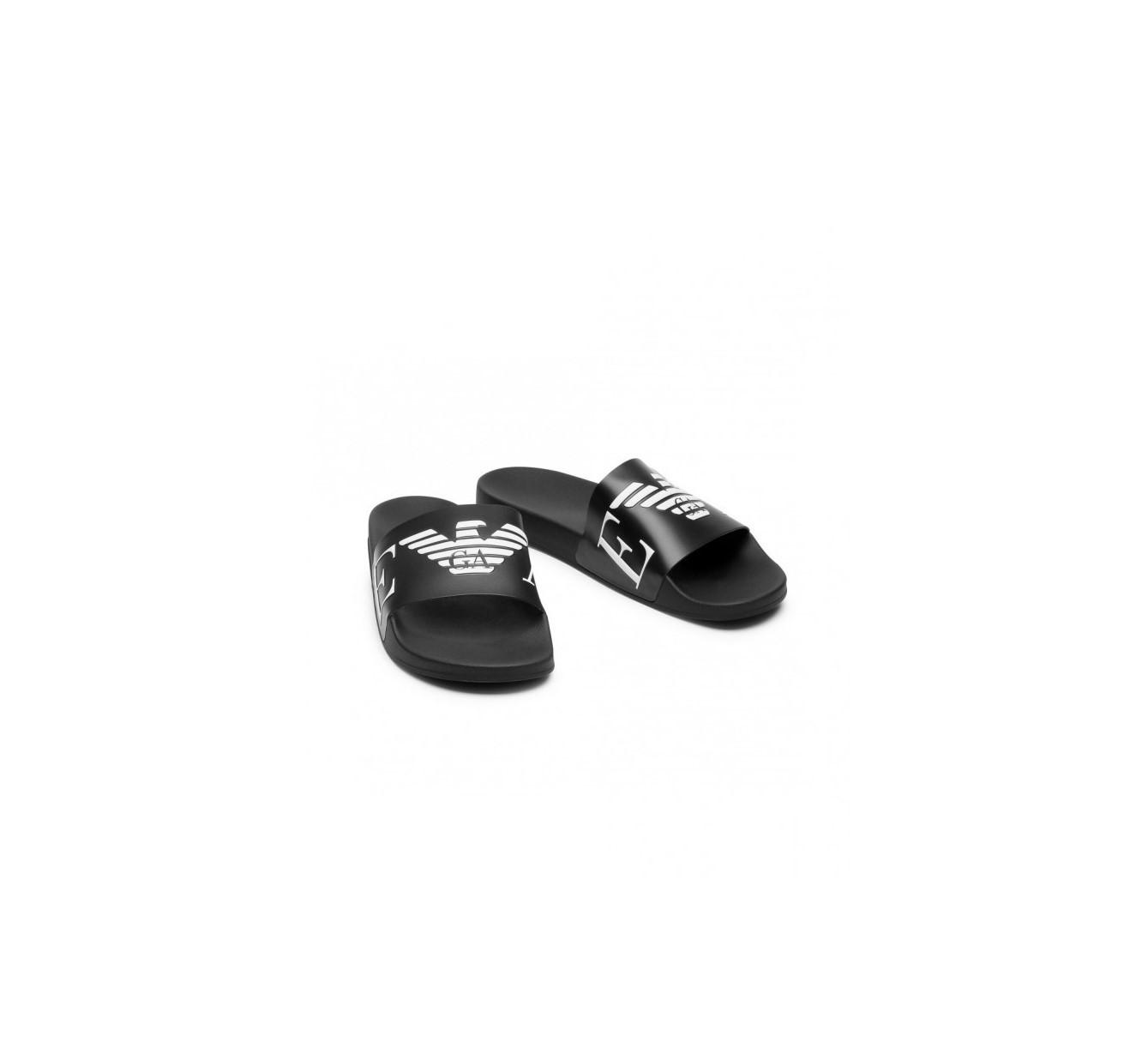 Armani Emporio Armani pánské černé pantofle