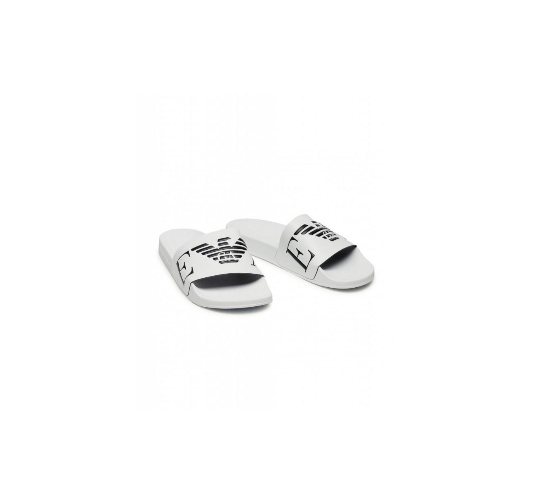 Armani Emporio Armani pánské bílé pantofle