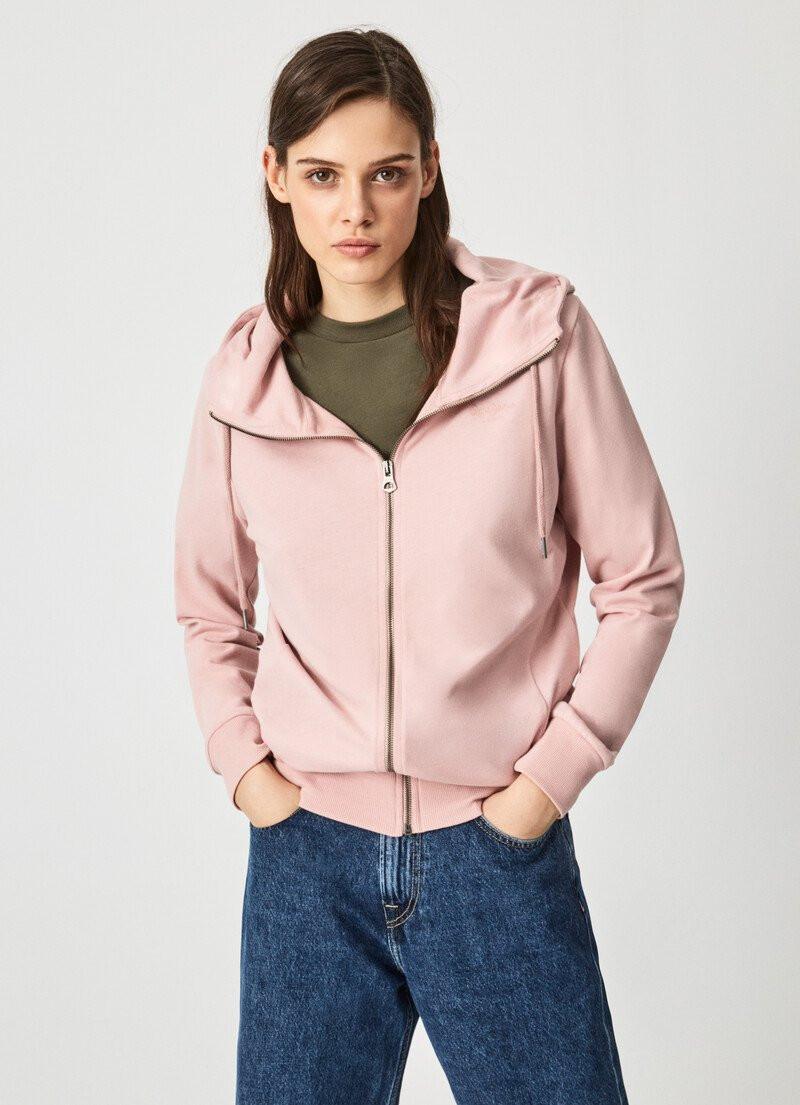 Pepe Jeans Pepe Jeans dámská světle růžová mikina ANNE