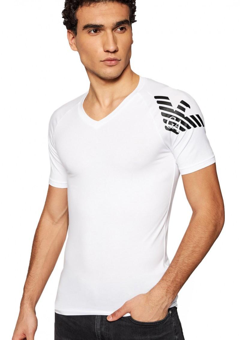Armani EMPORIO ARMANI pánské bílé tričko