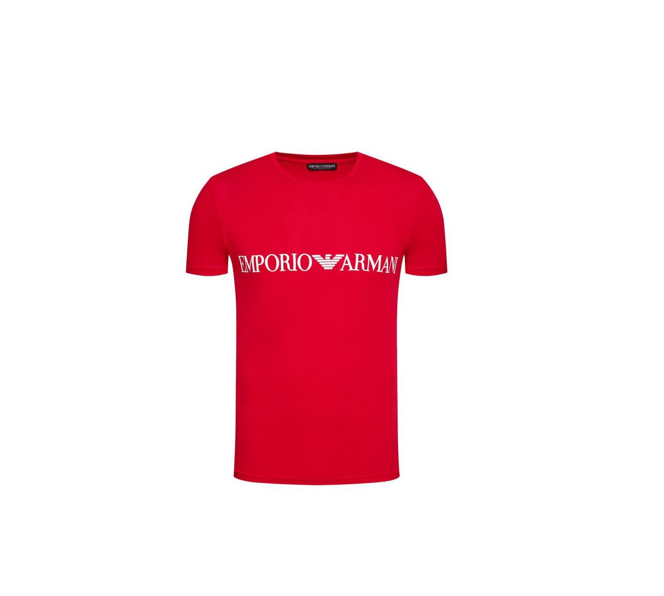Armani EMPORIO ARMANI pánské červené tričko