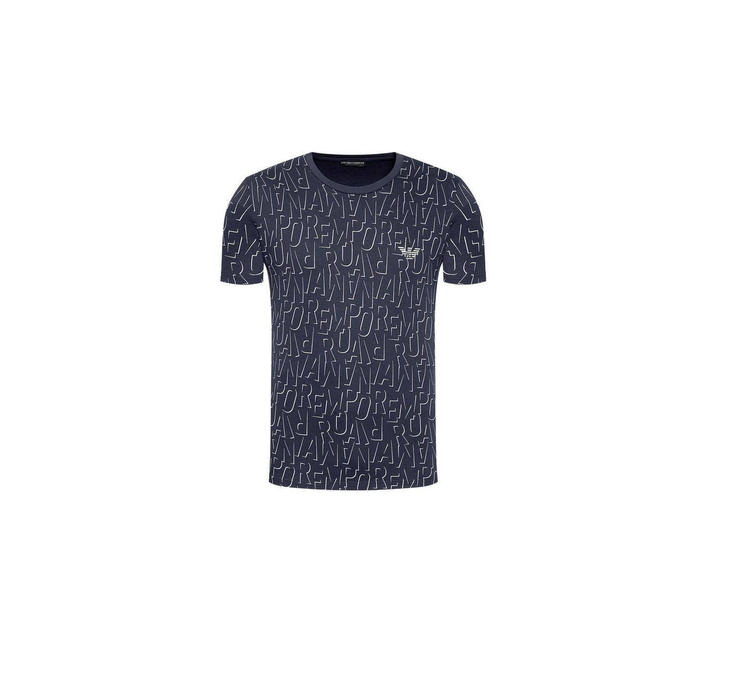 Armani EMPORIO ARMANI pánské tmavě modré tričko